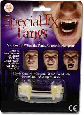 Special FX Fangs Custom Fit Retractable Movie Quality Vampire Halloween Teeth (Retractable Vampire Teeth)