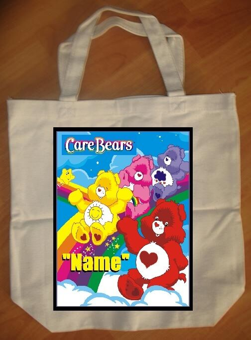 """""""Care Bears Rainbow"""" Personalized Tote Bag - NEW"""