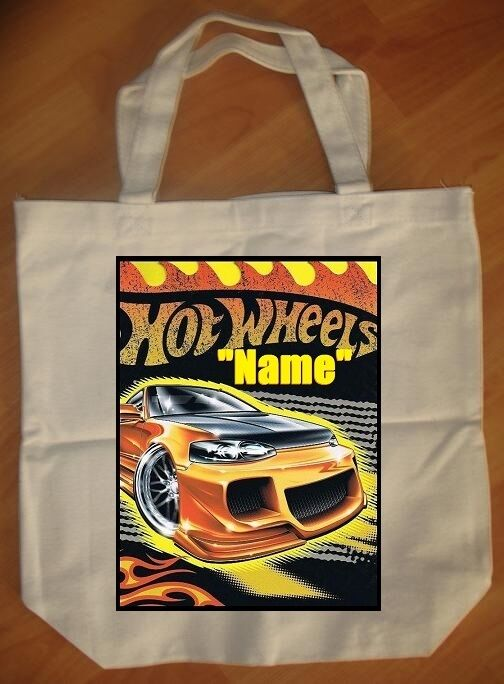 """""""Hot Wheels"""" Personalized Tote Bag - NEW"""