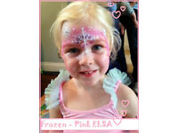 CHILDREN'S Party Face Painting, Glitter Tattoo, Balloon and Party Games - BOOK NOW!