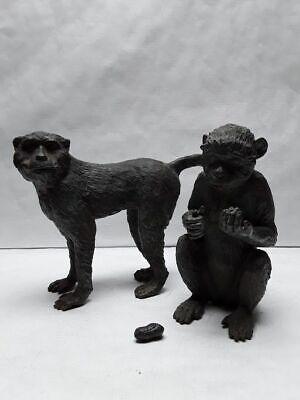 Japanese Taisho - Showa Monkey Okimono set