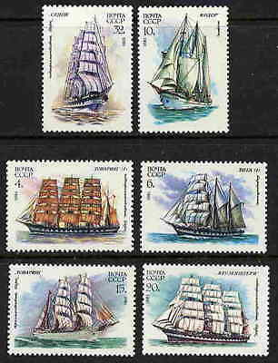 RUSSIA SAILING SHIP STAMPS - MINT NEVER HINGED COMPLETE SET OF SIX!
