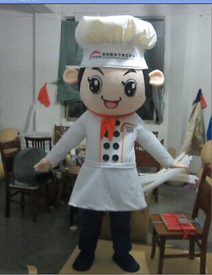 Restaurant Halloween Costumes (Halloween Chef Mascot Costume Restaurant Baker Cosplay Dress Party Game Adult)