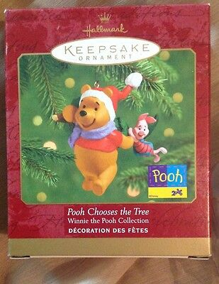 HALLMARK --  POOH CHOOSES THE TREE -- ORNAMENT DATED 2000