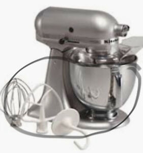bowl and mixing attachments for Kitchen Aid mixer