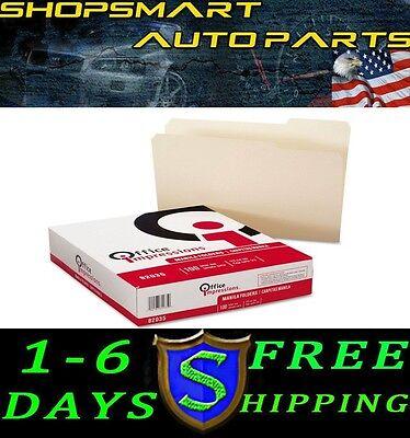 2 X Office Impressions Manila File Folders 13 Tab 100 Pack Fast Free Shipping