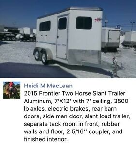 2015 Frontier Horse Trailer (two and half horse) is