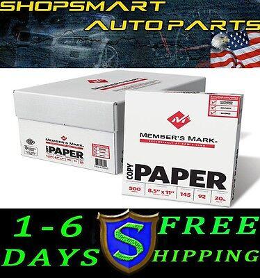 Copy Paper Case 5000 Total Sheets Letter Size 92 Bright 8-12 X 11 10 Reams