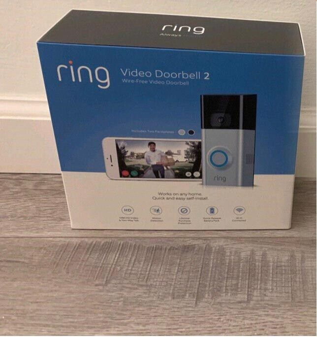 NEW Ring Video Doorbell 2 Version Wi-Fi  1080p HD Video COME