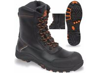 V12 Vtech E1300 Defiant Black High Leg Zip Side Safety Work Boot (Size 10 / 44)