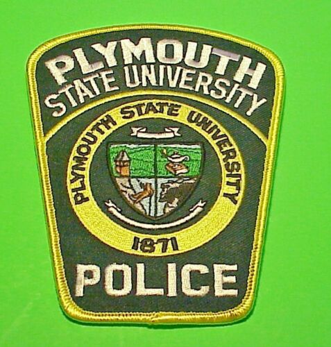 """PLYMOUTH STATE UNIVERSITY NEW HAMPSHIRE  NH  5""""  POLICE PATCH  FREE SHIPPING!"""
