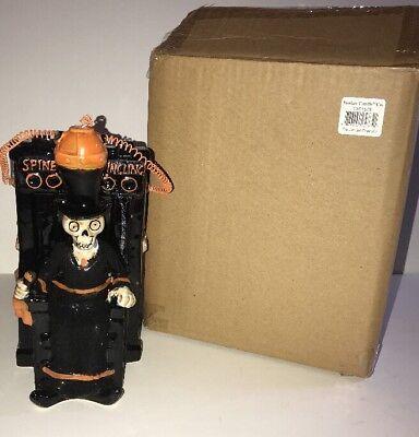 "YANKEE CANDLE Boney Bunch 2015 ""Electric Chair""Tart/Oil Warmer NEW Box Halloween"