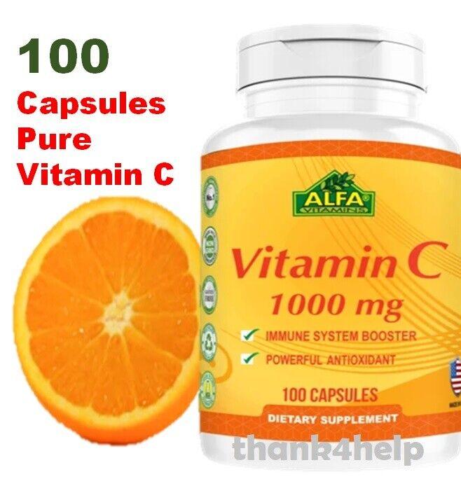 Vitamin C 1000 mg. 100 Capsules / la mejor y original Vitamina C made in USA
