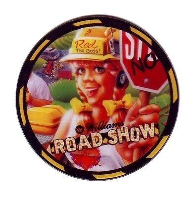Williams ROAD SHOW NOS Original Pinball Machine Plastic Promo Speaker RED Mint