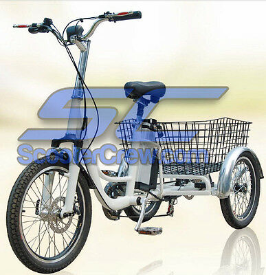 2019 Mobility Bicycle Scooter Electric Trike Lithium Battery 36v 350w Basket ATC