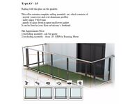 Railing glass balustrade sale distribution assembly