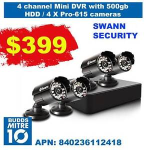 4 channel SWANN SECURITY SYSTEM Murwillumbah Tweed Heads Area Preview