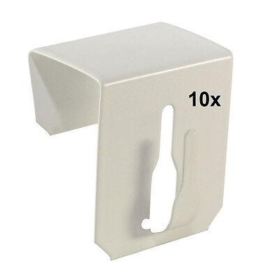 10x Fensterhaken für Fensterdekoration Weiß