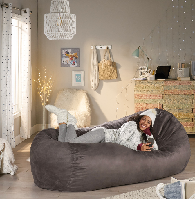Adult Bean Bag Lounger Chair 8FT Extra Large Oversized Dorm