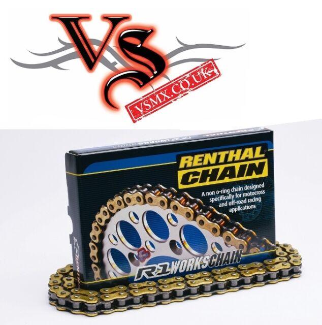 Renthal Heavy Duty GOLD 520 Pitch Chain 118LINK YAMAHA YZ125 YZ250 YZF250 YZF450