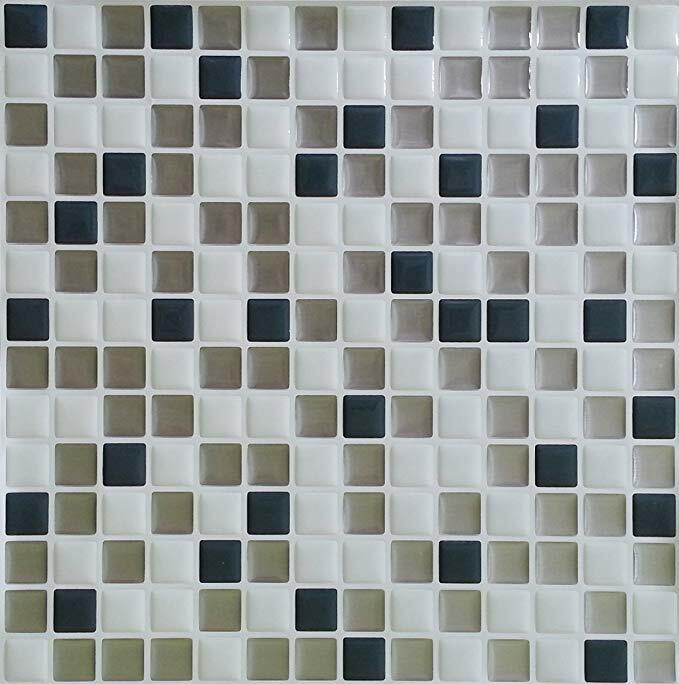 Peel and Impress Easy DIY Peel and Stick Adhesive Backsplash Tiles 055792240103