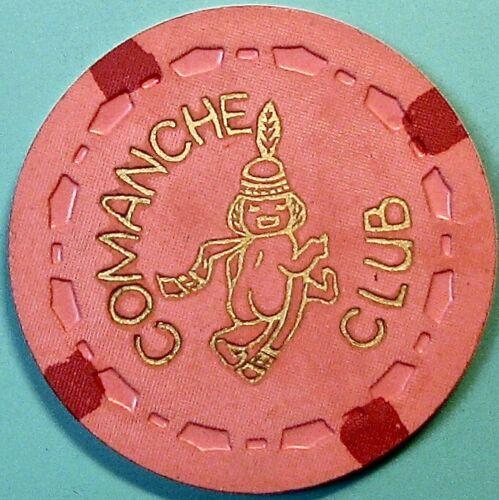 $10 Vintage Casino Chip. Comanche Club, La Mesa, CA. 1955. Q38.