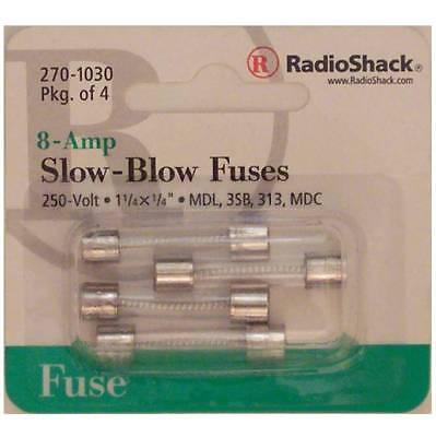 Slow-blow 8-amp 250 Volt Mdl 3sb 313 Mdc Glass Fuses 1-14 X 14 8a 250v 4pk