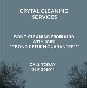 End of lease cleaning    Bond Guaranteed   $150