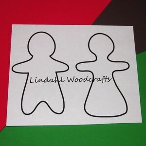 Gingerbread-Couple-Flat-Unfinished-Wood-Cut-Outs-Craft-Variety-Sizes-GC91016