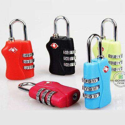 TSA Resettable 3 Digit Combination Lock Travel Luggage Suitcase Bag Lock Padlock
