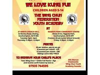 Children's wing-chun lessons ages 5-14