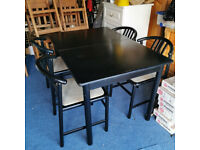 Table & 4 low back chairs