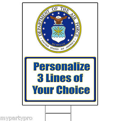 AIR FORCE CLASSIC PERSONALIZED YARD SIGN Party Supplies FREE SHIPPING NEW