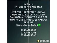 WANTED CASH PAID IPHONE 12 PRO MAX 12 PRO 12 MINI 11 PRO MAX 11 PRO 11 XS MAX XR SE NEW USED SEALED