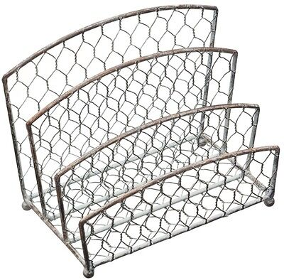 Kitchen Craft Living Nostalgia Wire 3 Section Letter Rack
