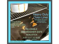 Heavy duty oven Liner (re-useable, dishwasher safe, non-stick)