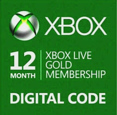 12 MONTH XBOX LIVE GOLD MEMBERSHIP XBOX 360 / XBOX ONE🔥QUICK EMAIL DELIVERY🔥