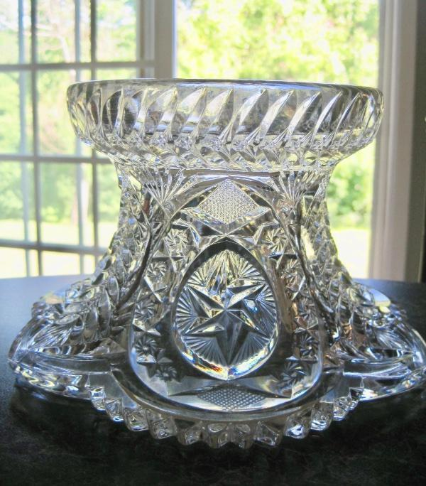 VTG LE SMITH GLASS~MCKEE NORTEC~CENTIPEDE~PUNCH STAND~PEDESTAL~BASE~SERVING BOWL