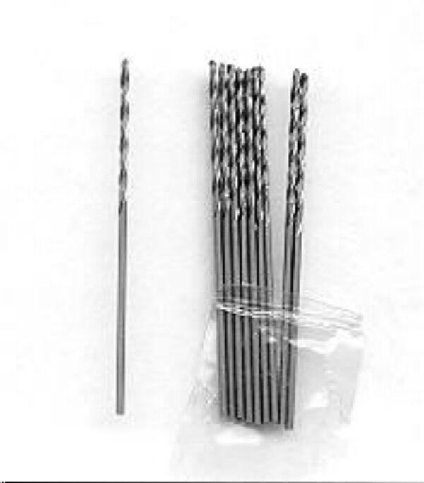 Ten 1.75mm mini jewelers twist drill bits drill metals