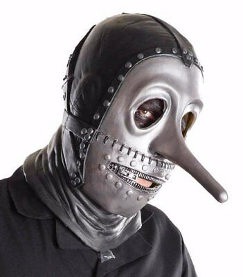 SlipKnot Music Chris Fenn Full Mask Gray Chapter Licensed Costume Halloween