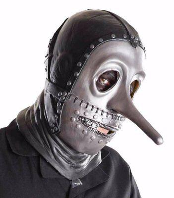 SlipKnot Music Chris Fenn Full Mask Gray Chapter Licensed Costume