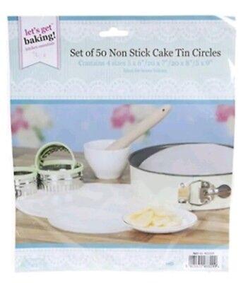 Set Of 50 Non Stick Cake Tin Circles