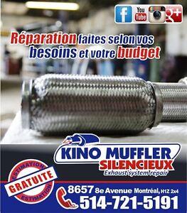 Réparation muffler montreal, Problème de bruit, Catalyseur, Fle