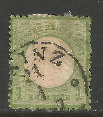 GERMANY 1872 1KR GREEN IMPERIAL EAGLE 7 USED