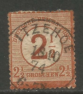 GERMANY 1874 2 1/2GR BROWN SRCH IMPERIAL EAGLE 27 USED