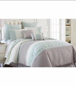 New, 8-pc Embroidered Comforter Set Palisades King Size *PickupOnly PU2