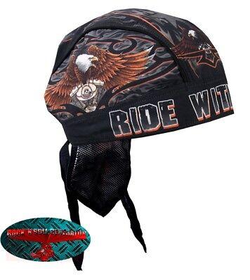 Ride Eagle (RIDE WITH PRIDE Bandana Kopftuch Headwrap Biker Chopper Cap V2 Harley 1% EAGLE)
