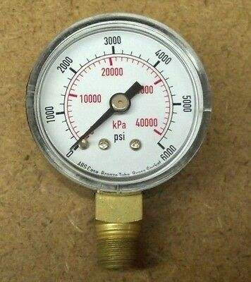 2  Pressure Gauge  Test  1 1 2 In 6000 Psi  Lot Of 2 Pieces 4Flt4 Grainger
