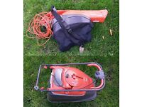 FLYMO LAWNMOWER AND BLOWER ( ELECTRIC) for sale, strong engine. Operates like new.