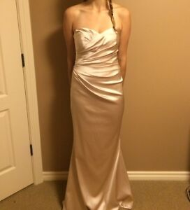 Two Strapless Gold Bridesmaid Dresses for Sale!
